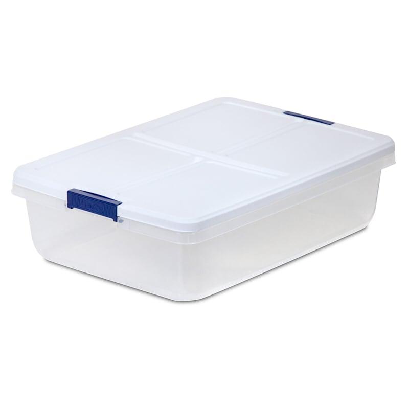 Hefty 34qt Storage Bin Clear/White