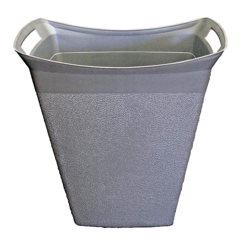 15qt Wastebasket Silver