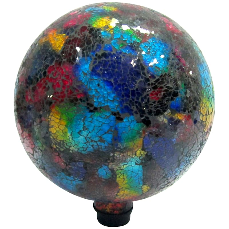 10-in. Mosaic Garden Ball, Blue and Red
