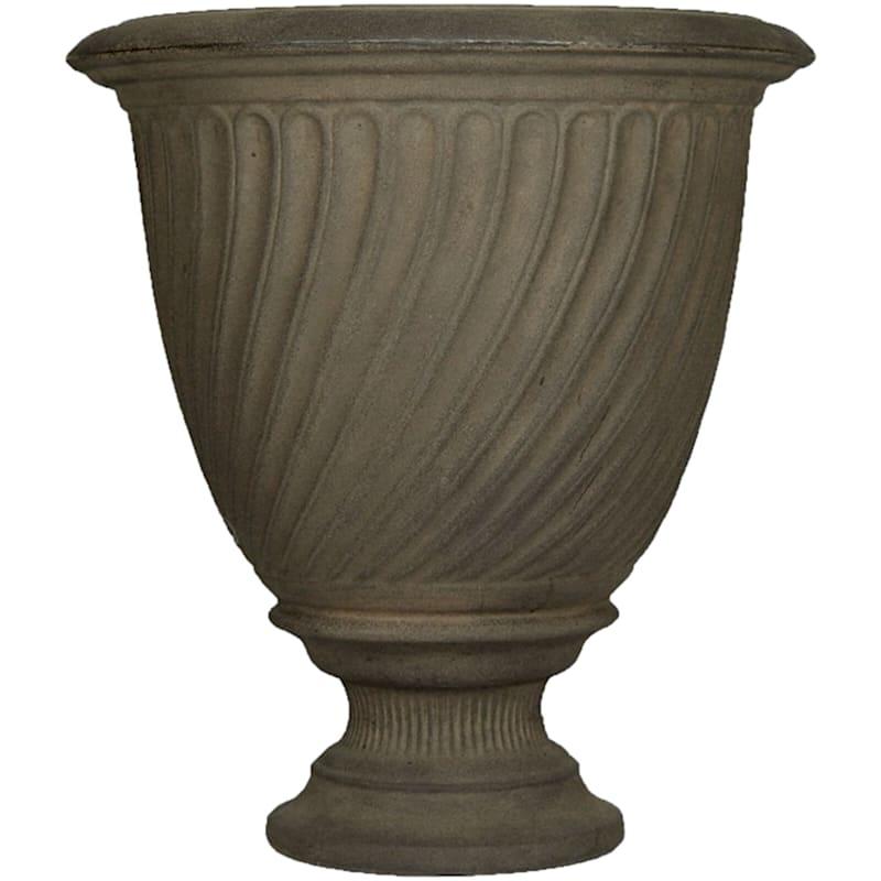 Trevi Urn 17in. Decorative Planter Sable