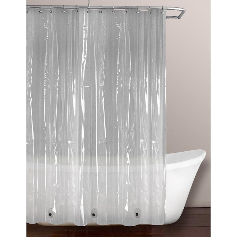 Clear PVC Lightweight Shower Liner 70X72