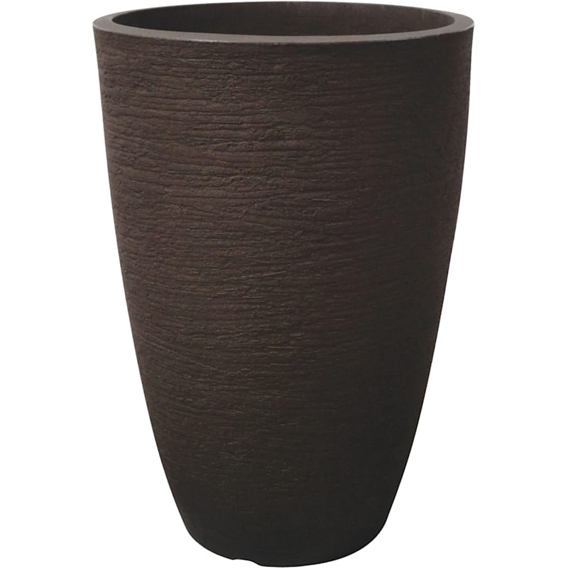 21.7X14.8 All Weather Proof Polyresin Modern Conic Planter Coffee