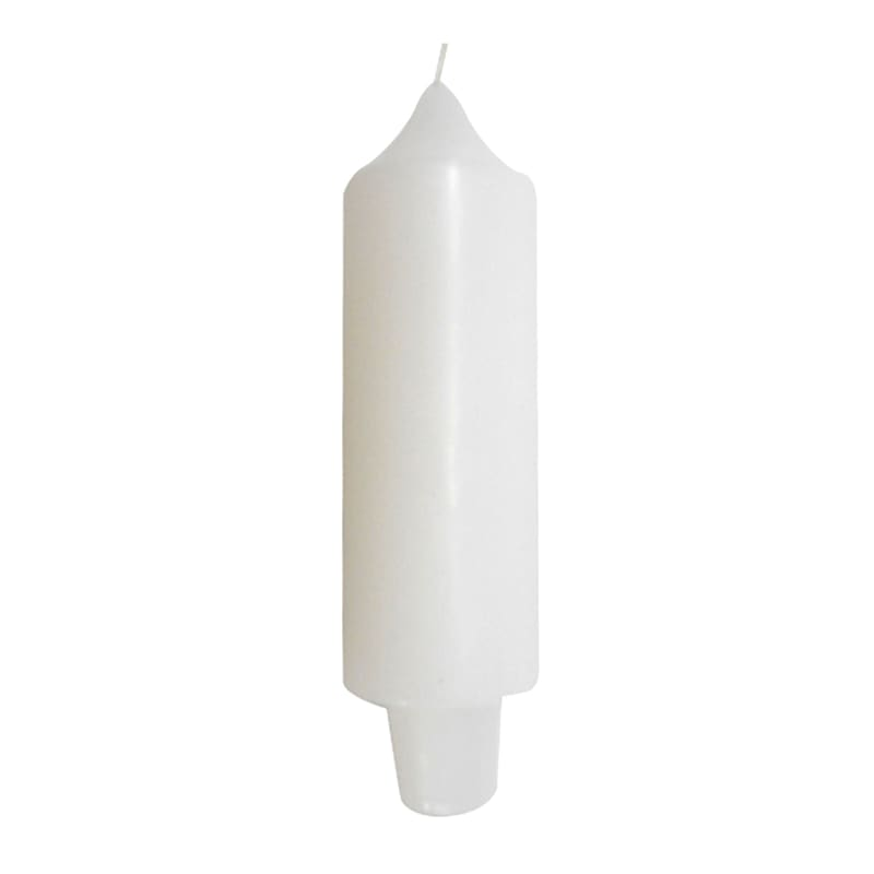 5in. Carriage Candle White