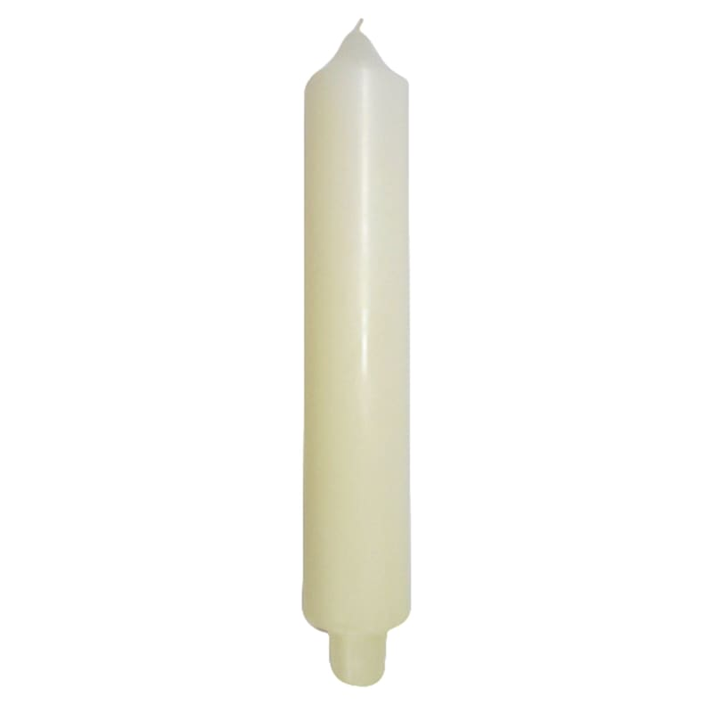 9in. Carriage Candle Ivory
