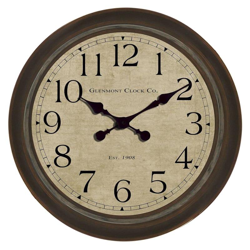 30X30 Bronze Wall Clock