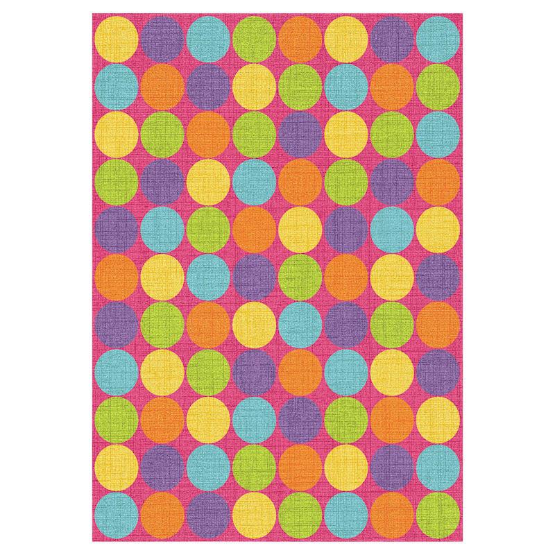 D103 Pink Multicolor Gumdrop Rug- 5x7 ft
