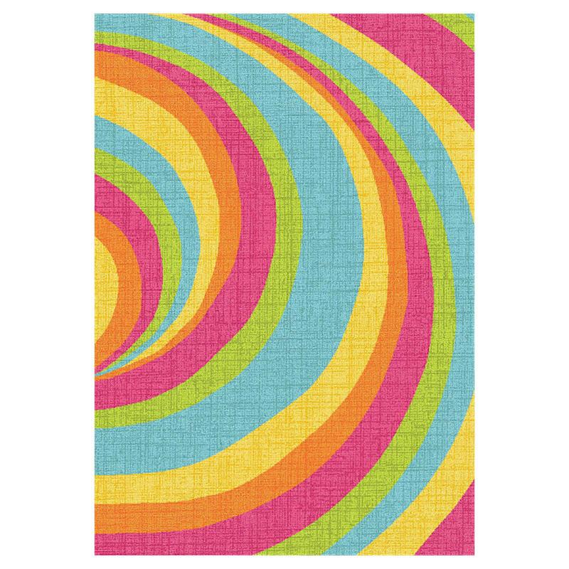D146 Bright Multicolor Vortex Rug- 3x5 ft