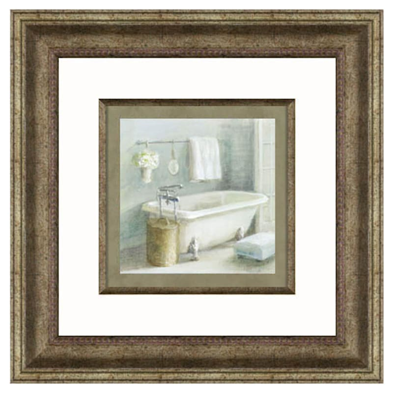 10X10 Refresh Bath Framed Art Under Glass