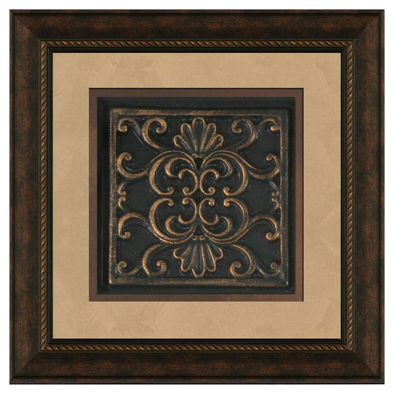 12X12 Medallion Matted Framed/Glass