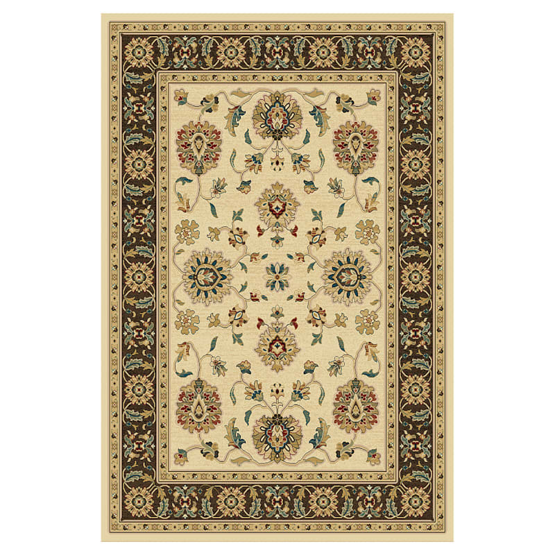 (B57 ) Thayer Brown & Ivory Woven Area Rug, 5x7