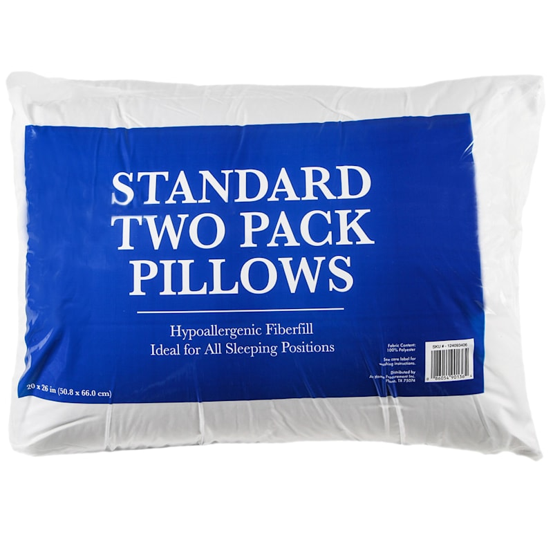 2-Pack Standard Bed Pillows 20X26