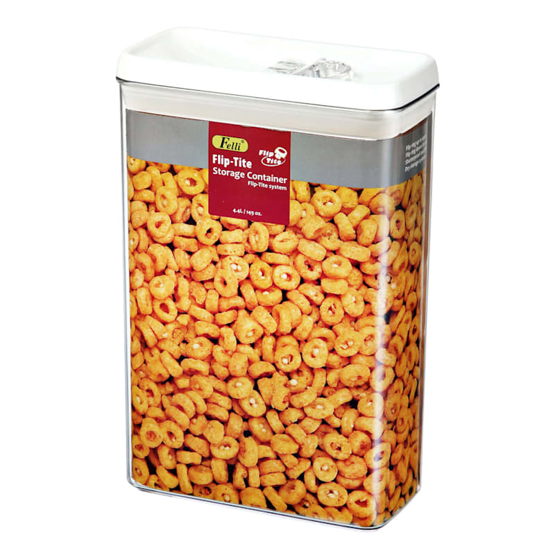 Flip Tite Jumbo Stackable Airtight Bpa Free Acrylic Cereal Canister