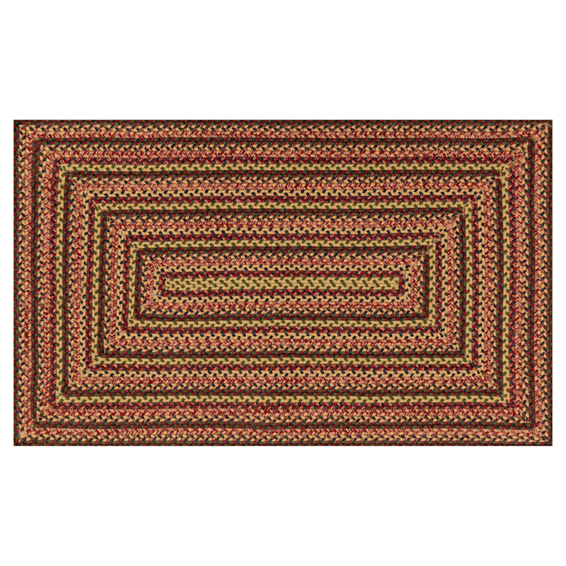 Multicolor Braided Red Rug 28 X 48-in
