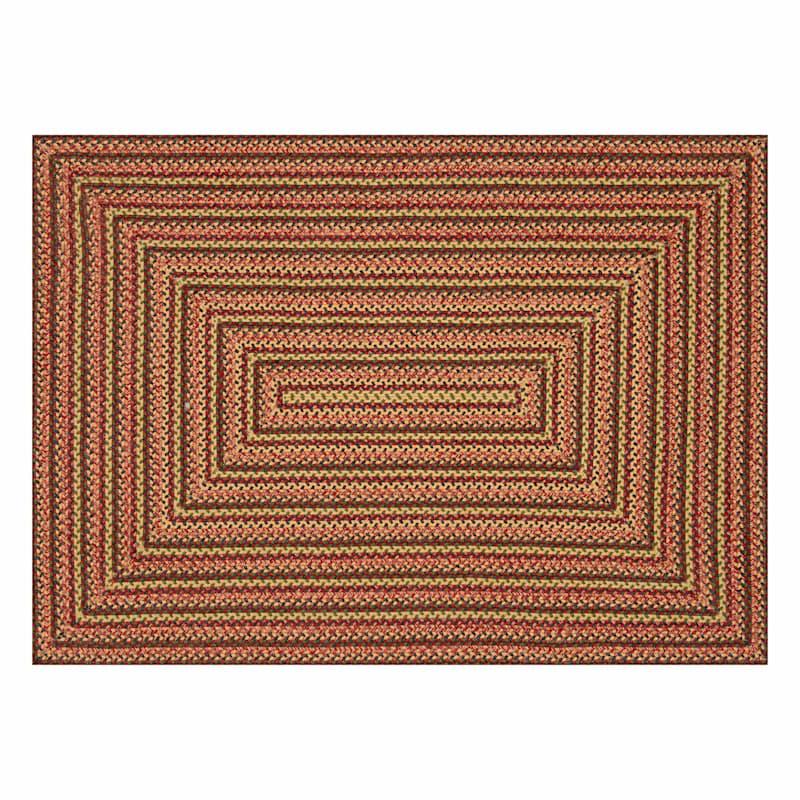 (D71) Lucius Red Multi Braid Area Rug, 5x7