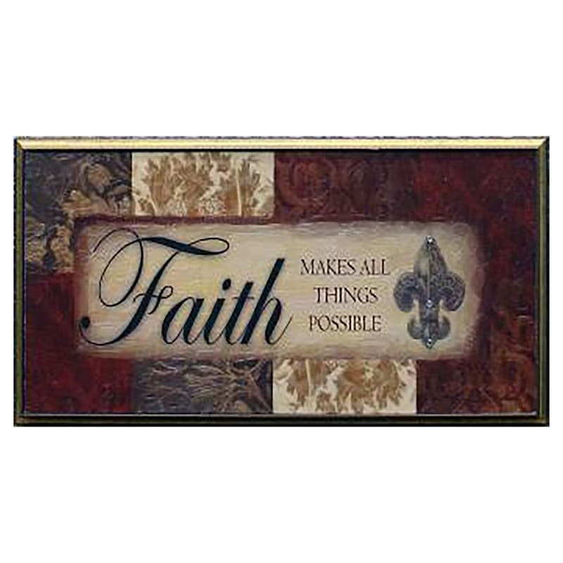 8X16 Trust Religious Canvas Framed Art