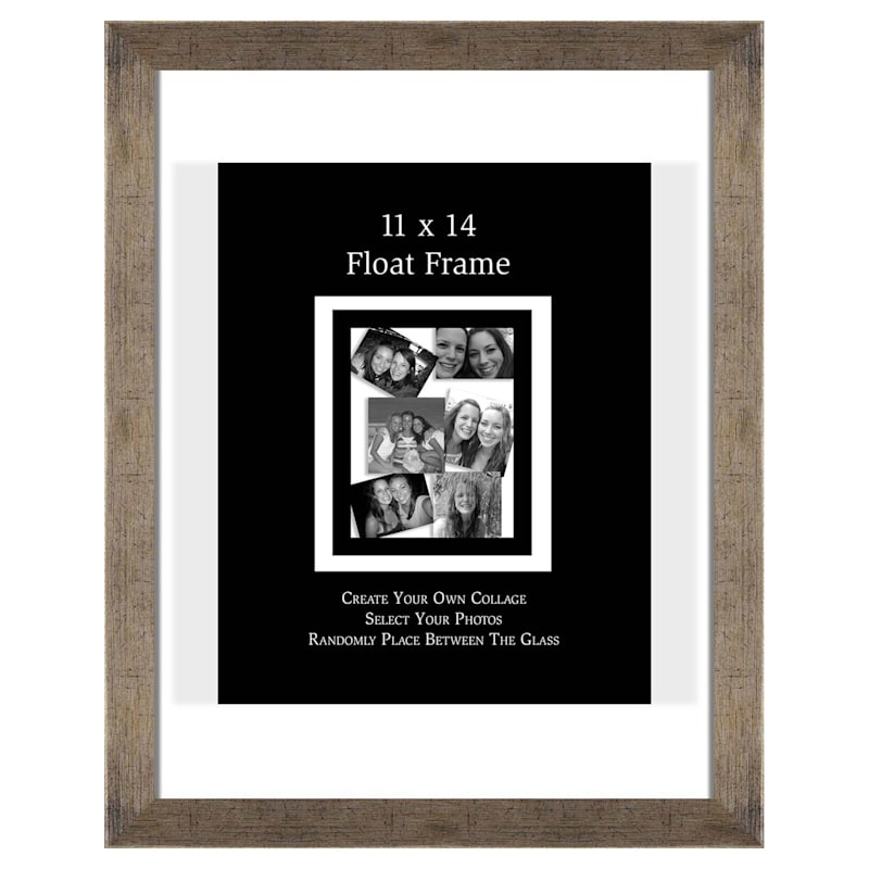 11X14 Champagne Float Wall Photo Frame