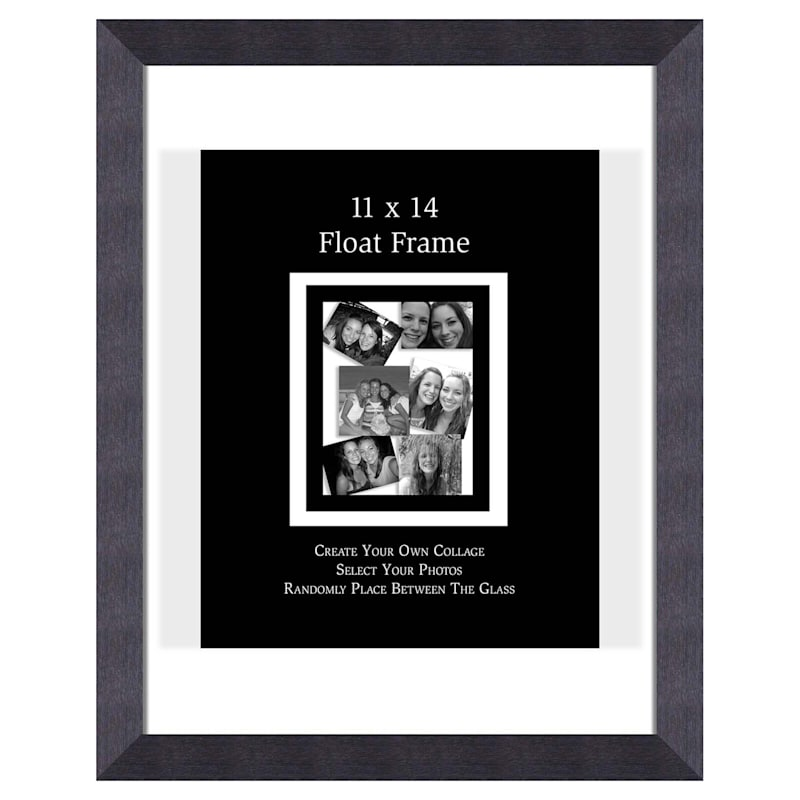 11X14 Charcoal Float Wall Photo Frame