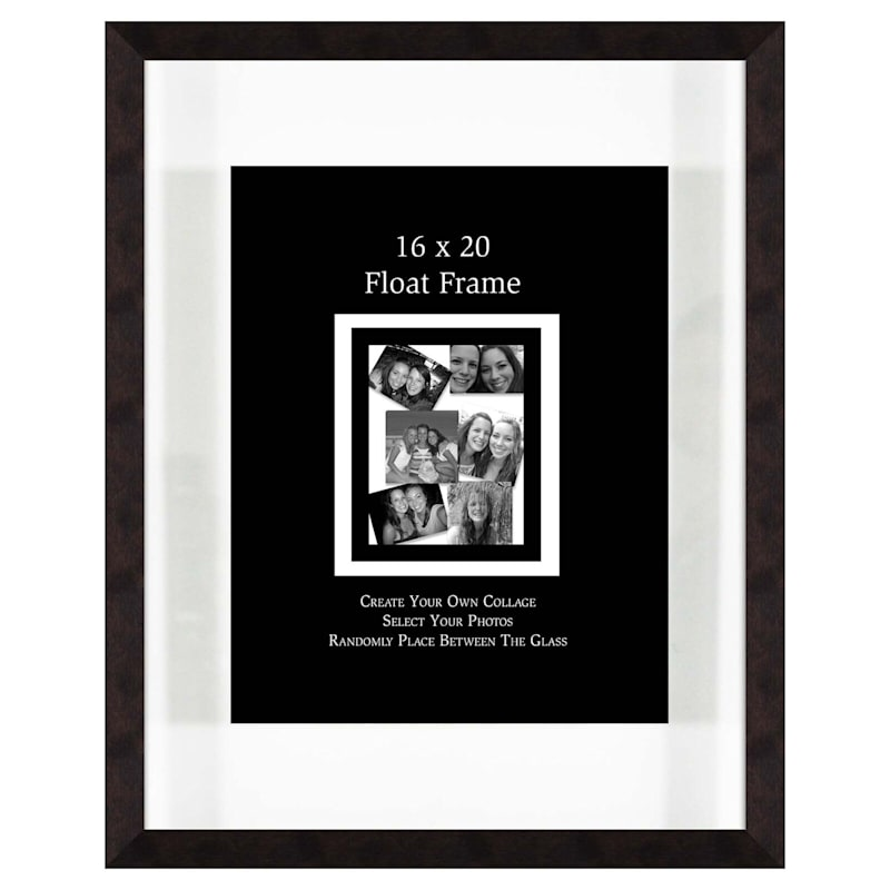 16X20 Chestnut Float Wall Photo Frame