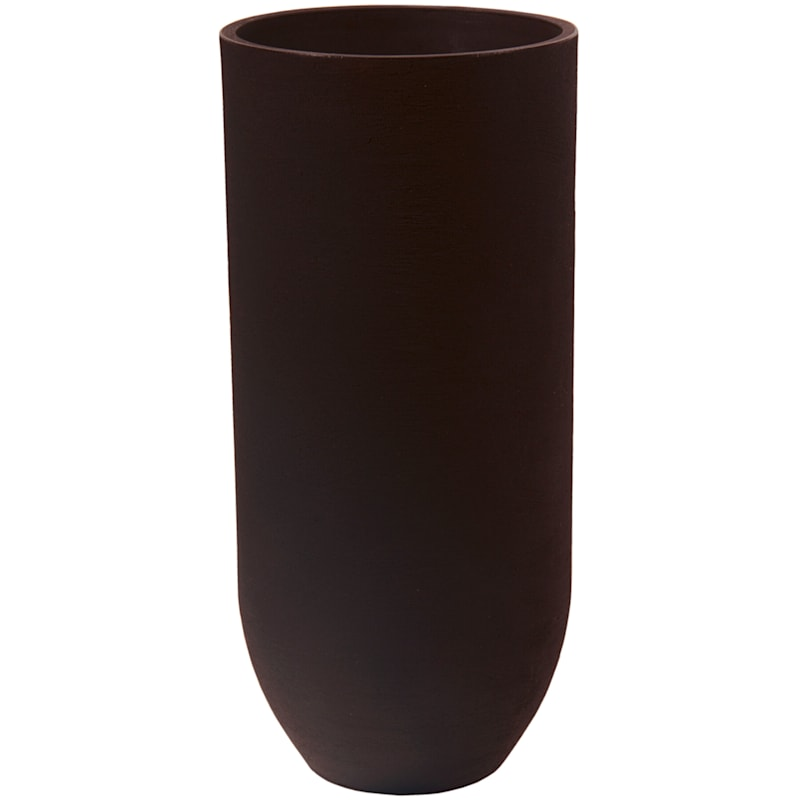 40X17.5 All Weather Proof Polyresin European Vertical Planter Coffee