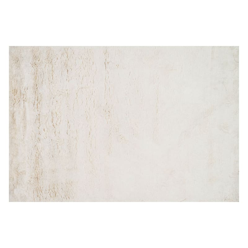 Feelings Hand Tufted Ivory Shag Accent Rug., 2x4