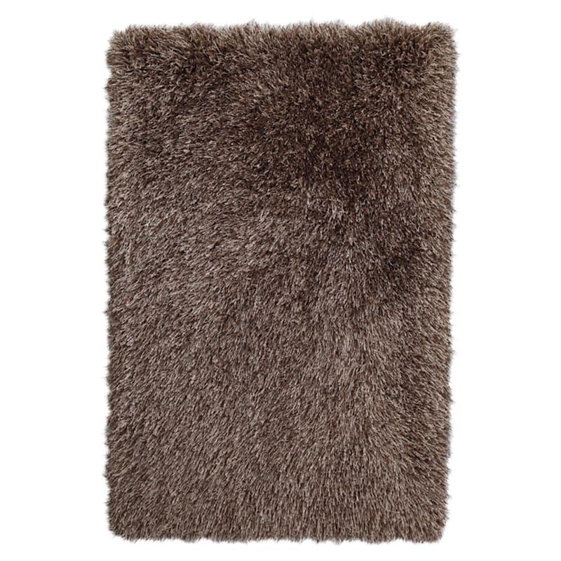 (C21) Mixed Brown & Mocha Long Pile Shag 7X11