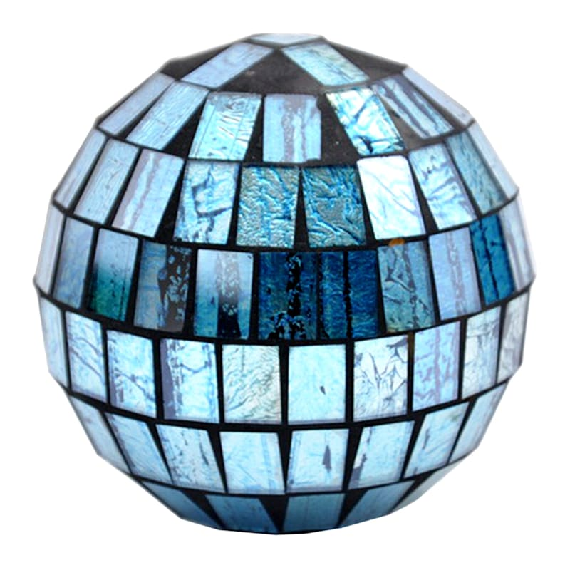 Blue/Brown Mosaic Ball