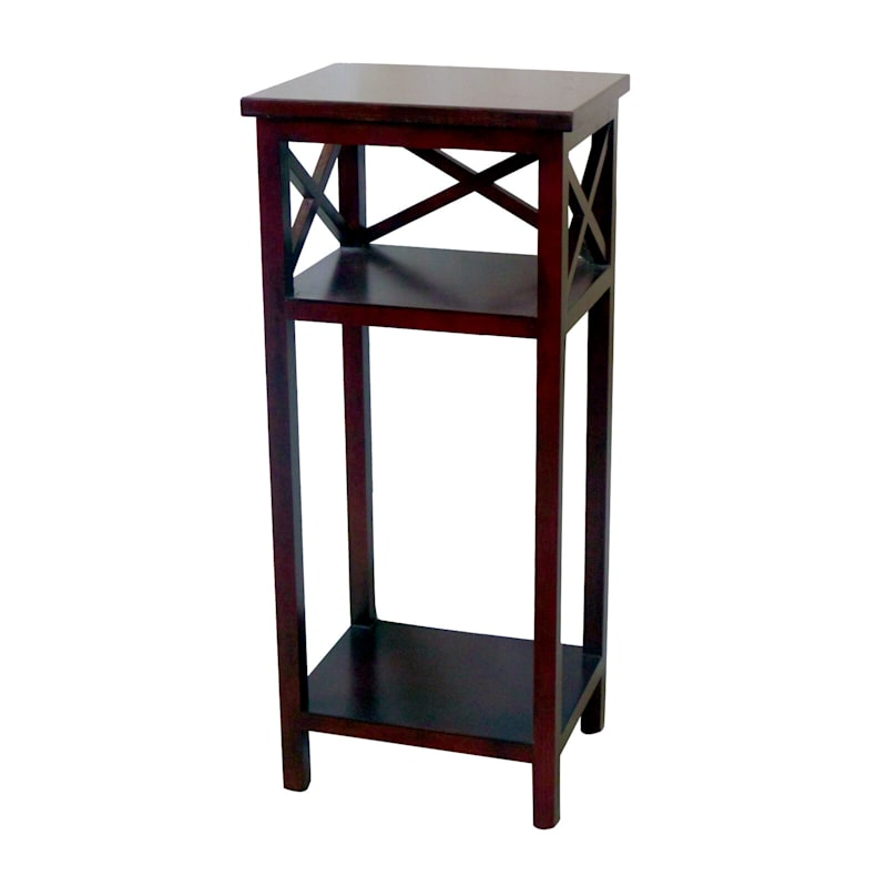 2-Tier Wooden Accent Table