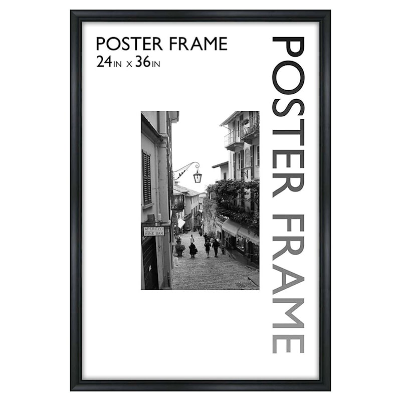 24 X 36-in Sleek Line Black Poster Frame