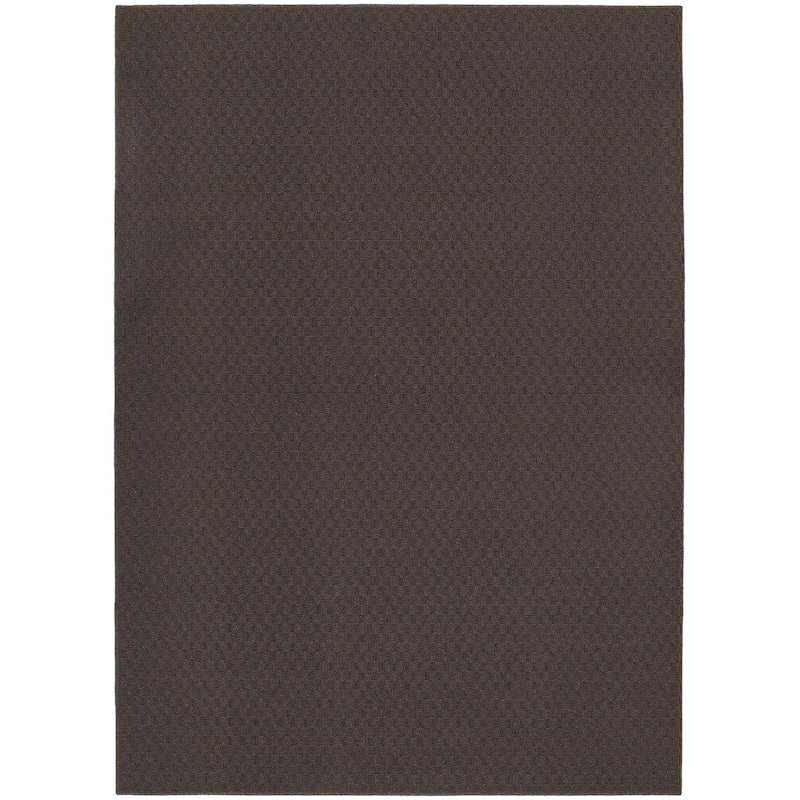 (D138) Town Square Area Rug Mocha, 5x7