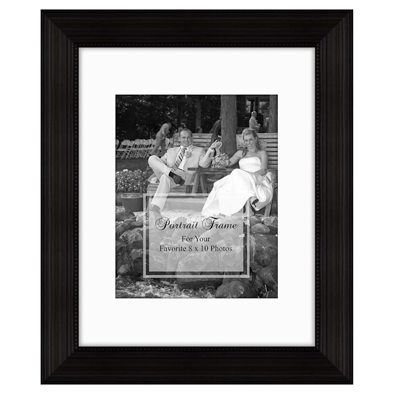 11X14 Matted To 8X10 Wide Linear Portrait Photo Frame