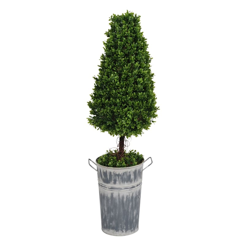 Tall Conical Green Faux Tree
