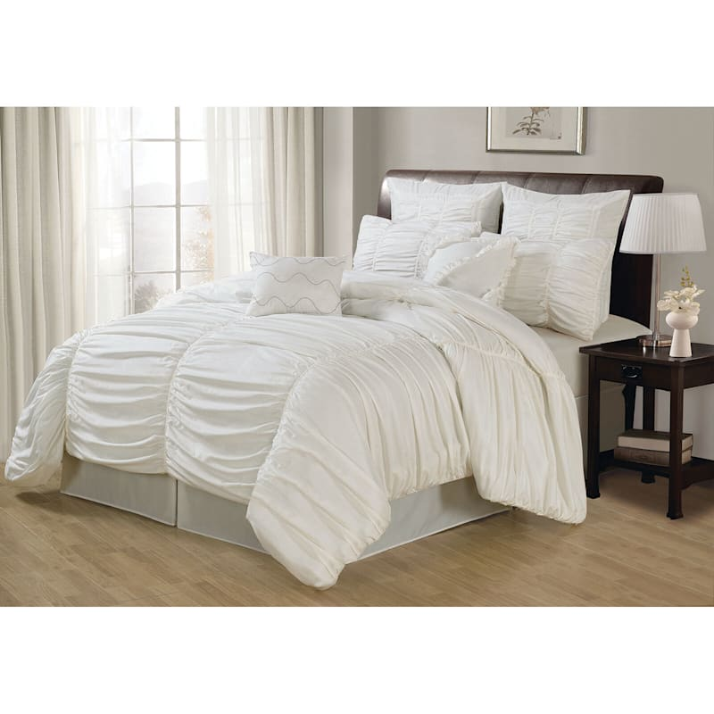 Danielle White 5-Piece Comforter Set King