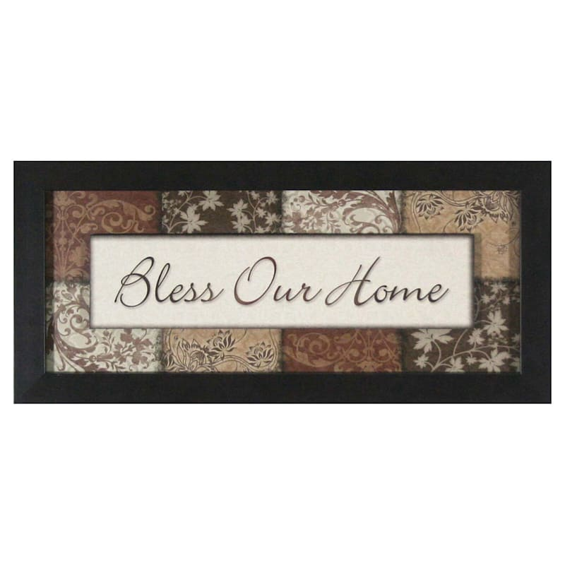 7 X 19-in Bless Our Home Plaque