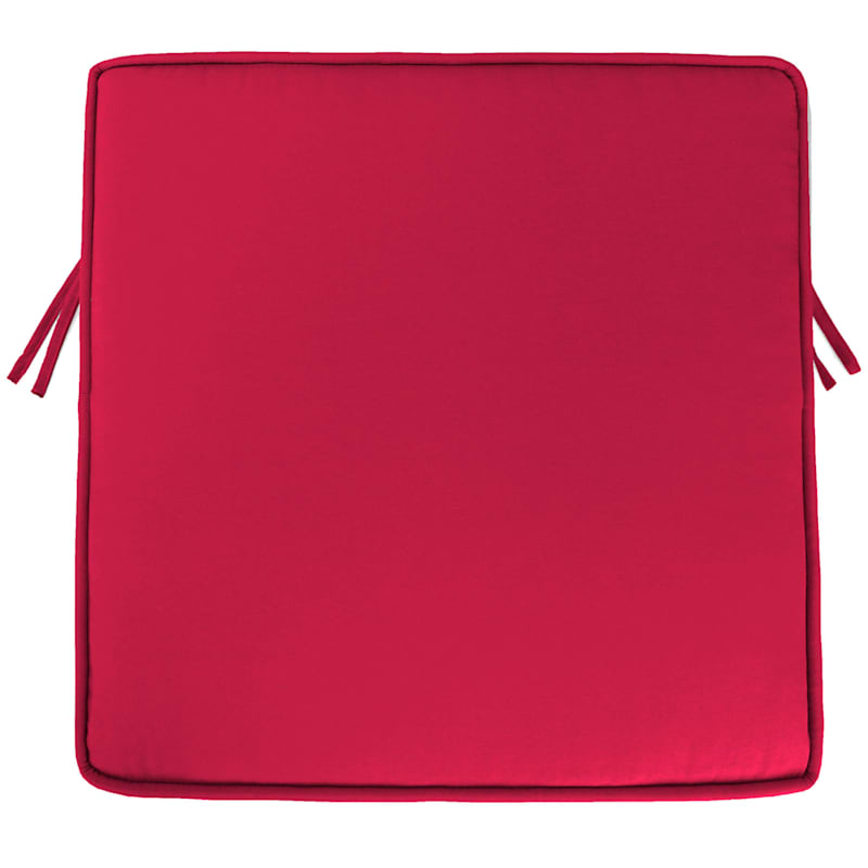Pompeii Red Single Deep Seat Cushion