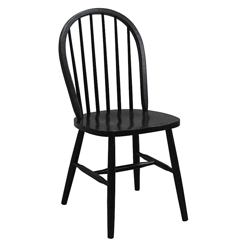 Solid Wood Black Windsor Chair
