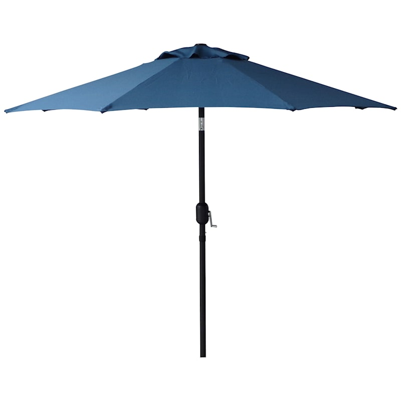 7.5 ft. Crank & Tilt Umbrella, Dark Blue
