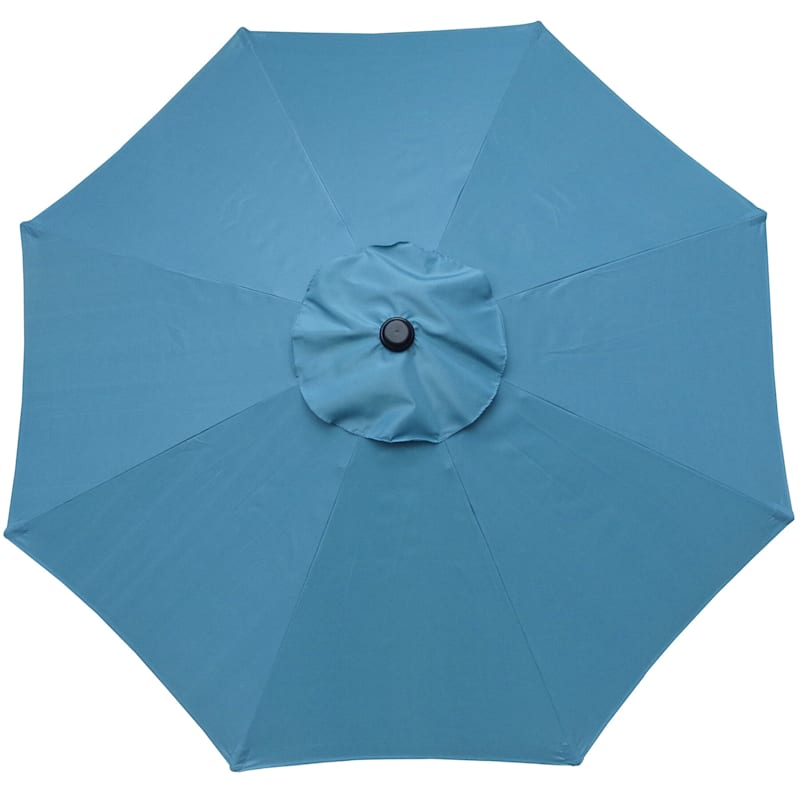 Steel Spa Blue Round Crank And Tilt Outdoor Umbrella, 7.5'