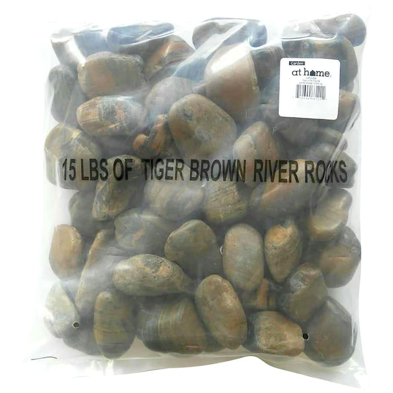 Decorative Rocks Brown 15 Lb. Bag