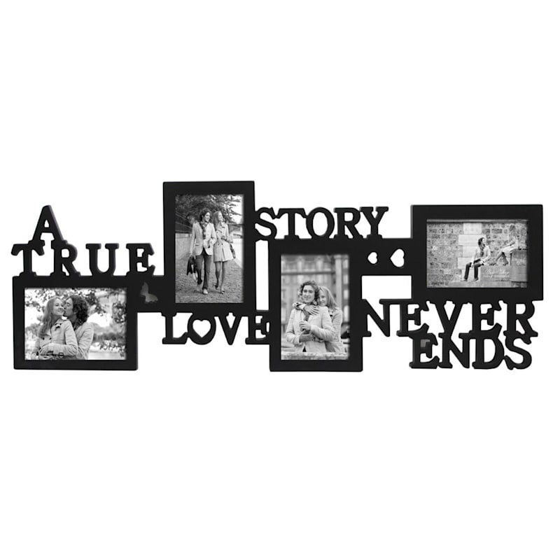 30X11 True Love Story Photo Collage