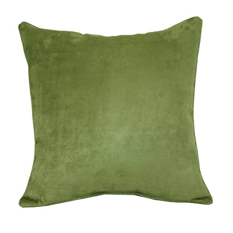 Heavy Suede Toss Pillow, Green