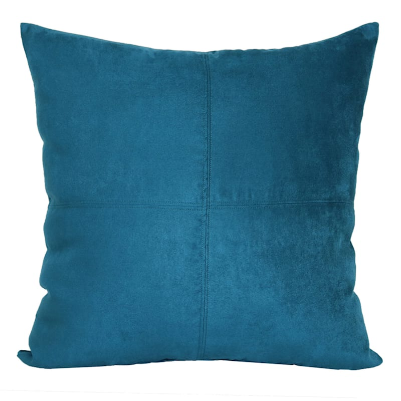 Teal Heavy Faux Suede Oversized Pillow 24X24