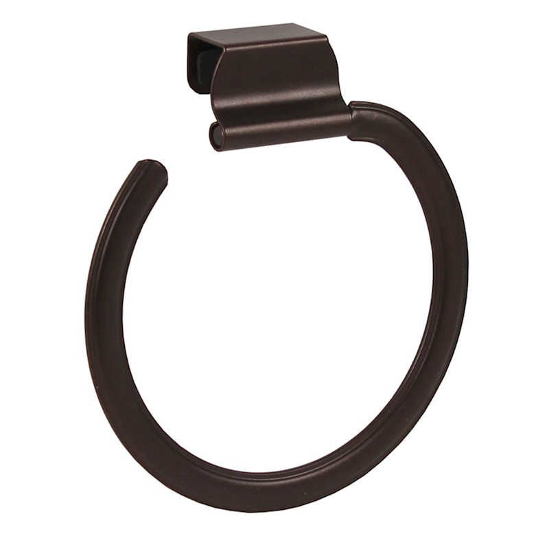 Ashley Over The Cabinet Towel Ring Bronze