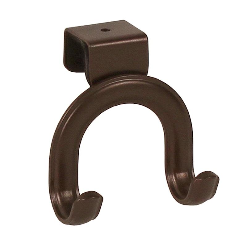Over-the-Cabinet-Door Double Hook, Bronze