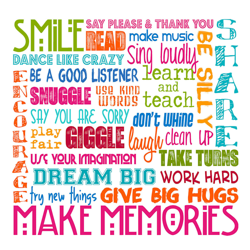 22X22 Smile Make Memories Phrases Stretched Canvas