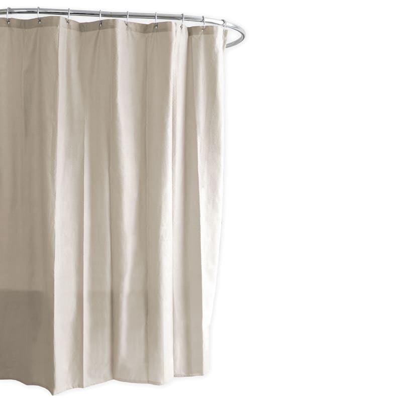 Ella Taupe Embossed Fabric Shower Curtain Liner 70X73