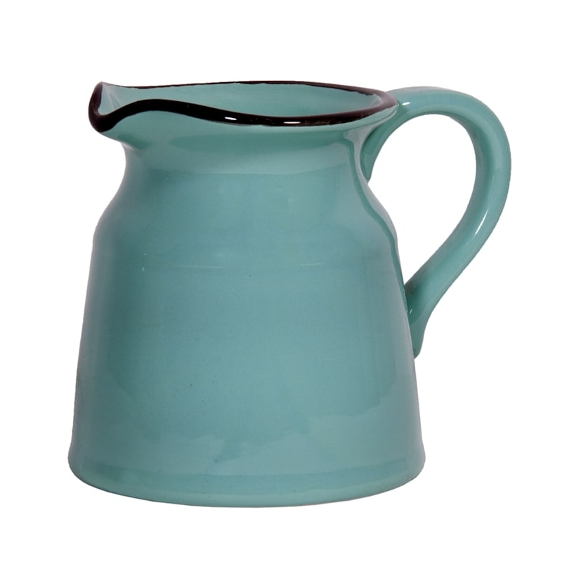 8in. Aqua Turino Pitcher