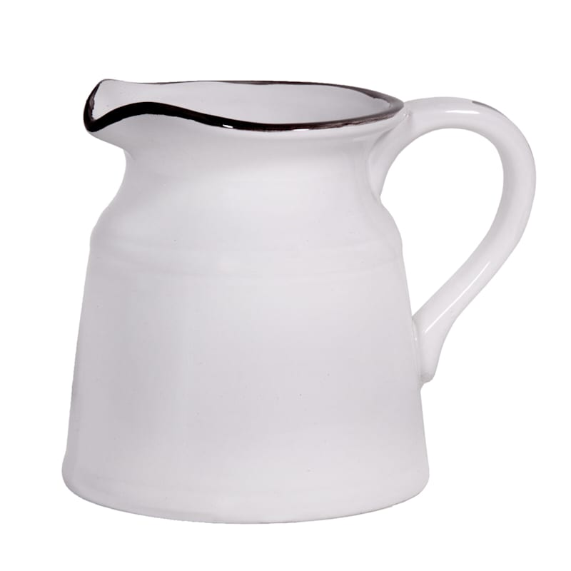 8in. White Pitcher Turino