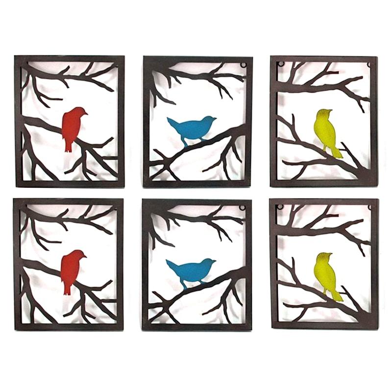 10X12 Birds On Branch Metal Frame Wall Art