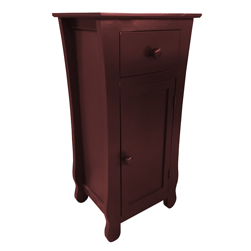 Brown One Drawer Thick Leg Cabinet