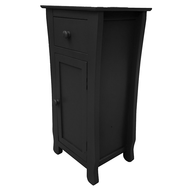 Black One Drawer Thick Leg Cabinet